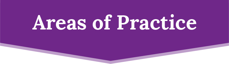 Areas of Practice Banner
